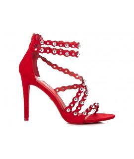 fbeb6a647fd4 Červené sandálky na zips