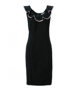 5fe549c973ed Čierne romantické šaty s telo formujúcou spodničkou