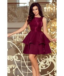 Elegantné bordové šaty