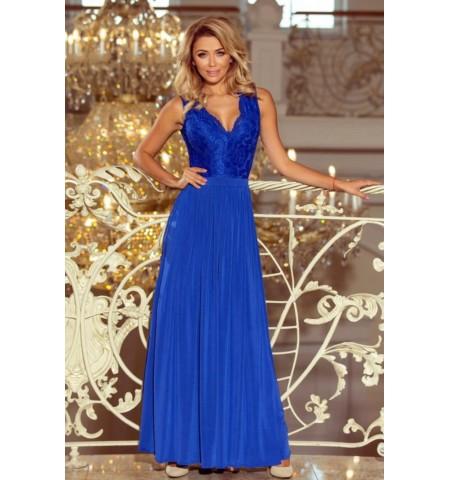 Dlhé modré šaty