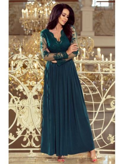 Zelené večerné šaty