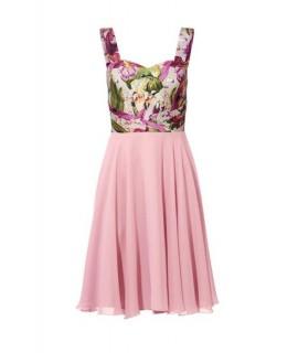 Saténové šaty s kvetinovým vzorom Ashley Brooke 1076c95fb50
