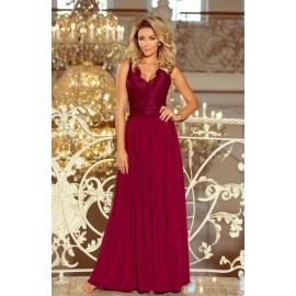 Dlhé bordové šaty