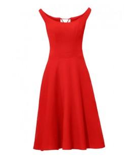 Korzetové červené šaty Ashley Brooke ab15da36a7c